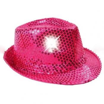 Sombrero con luz, rosa fucsia