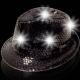 Sombrero con luz, negro