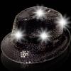 Sombreros Fedora, luminosos, negro