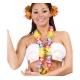 Hawaianas fiesta, collares, de flores multicolor