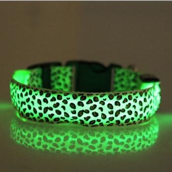 Collares luminosos para perros, leopardo
