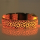 Collar led perro leopardo