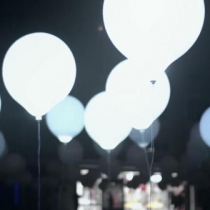 White LED Balloons 45cm (Large)