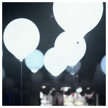 White LED Balloons 45cm (Large)