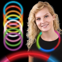 Collares fiesta luminosos, glow, tricolor 50 uds