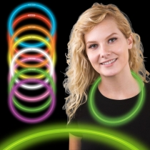 Collares luminosos, glow, bicolor 50 uds