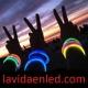 12 Pulseras fiesta luminosas, glow