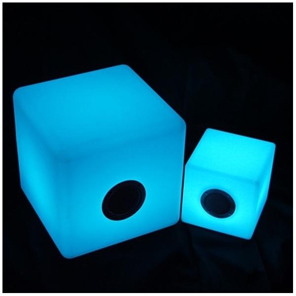 Cubo altavoz bluetooth luminoso led 40 cm luz 16 colores for Lampara altavoz bluetooth