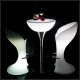 Mesa hostelería iluminada con luz led 60x100cm, RGB, sin cables, Shine