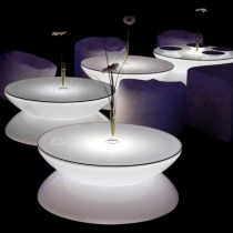 Mesa de luz, led, RGB, recargable, Lounge Bar
