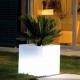 Cubo vaso led 40 cm, luz 16 cores, bateria recarregável