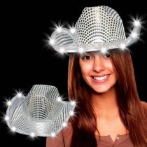 Sombreros Led Cowboy Plata