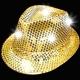 Sombrero con luz, oro