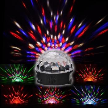 Lámpara Luces Fiestas Bola Led RGB mágica de cristal
