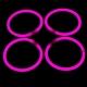 100 Pulseras luminosas, glow, rosa