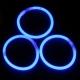 100 Pulseras luminosas, glow, azul