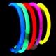 100 Pulseras fiesta luminosas, glow, rojas